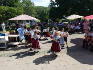Kindergruppe beim Sommerfest des St. Josef Altenheims 13.07.18