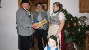 Weisen bei Katharina Schnell-Winkler v.l. Lenz Obermüller, Brigitte Sperger, Michael Winkler, Katharina Schnell-Winkler und Anton Winkler, 02.12.2018