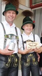 Christian und Sebastian Lackerschmid, 1. Platz Altersklasse und Buam I